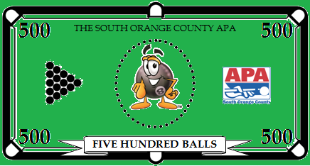 South Orange County APA Pool League Balls